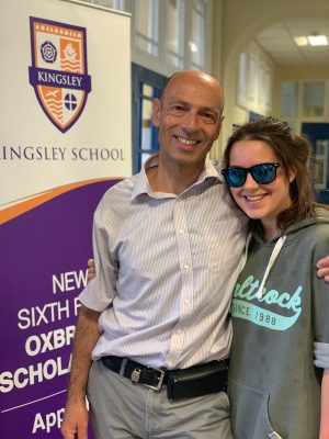 Great News from Kingsley School Bideford on A level Results Day!